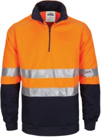 DNC3729, HiVis 1/2 Zip Fleecy with Hoop Pattern CSR Reflective Tape